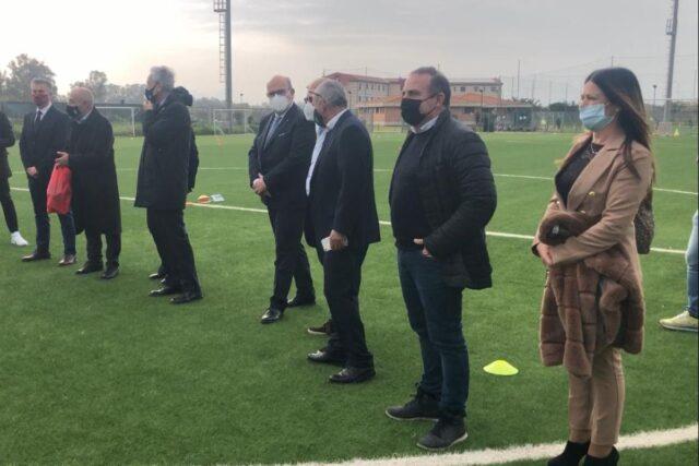 Il Presidente della FIGC Gabriele Gravina in visita al Centro federale di Oristano
